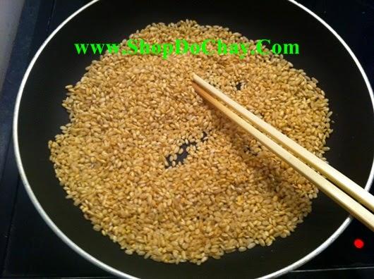 Cách nấu gạo lứt muối mè