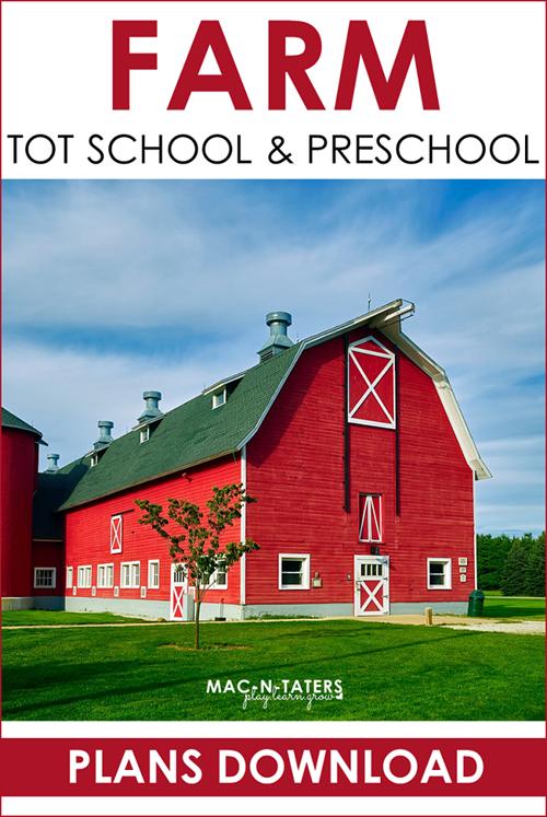 Farm Theme Tot School & Preschool Plans