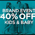 House of Fraser Brand Event - up to 40% off Kids & Baby