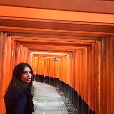 Emily Ratajkowski in Kyoto