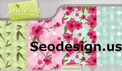 Free Floral Pink Blossom Patterns