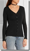 T by Alexander Wang fine knit v neck cardigan