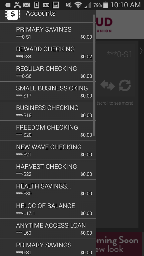 SCFCU Banking- screenshot