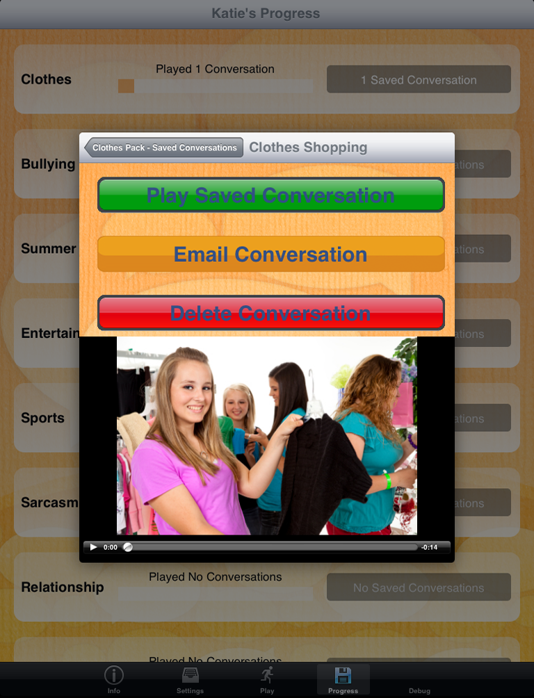 Conversation Builder Teen Play Saved Conversation