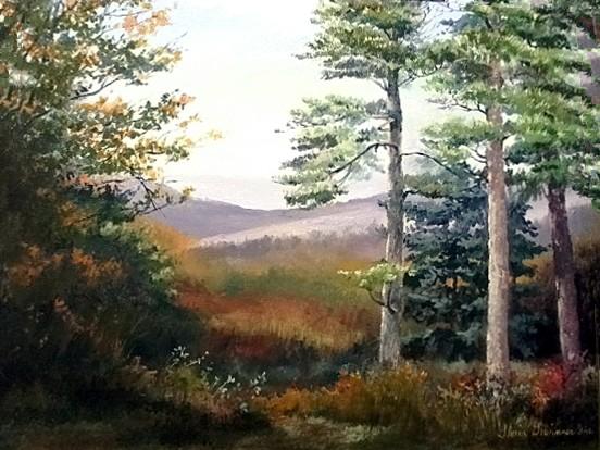 """""""Caney Mountain Vista"""" by Gloria Gewinner Ide. Oil. $350.00"""
