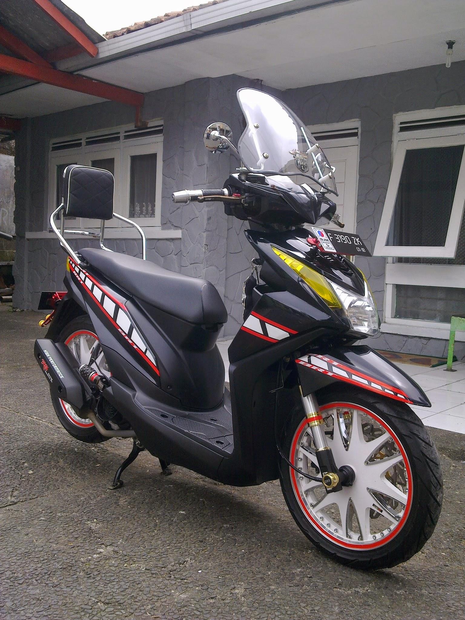 Kumpulan 75 Modifikasi Motor Honda Beat Merah Putih Terupdate Ruji