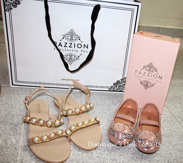 Gold Glamour Sandal for me and a Rose shoe for Tiger girl