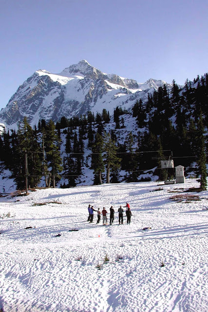 Ski lessons are a great way to get in on the excitement of skiing at mt. Baker Ski Area / Credit: Peggy Warner