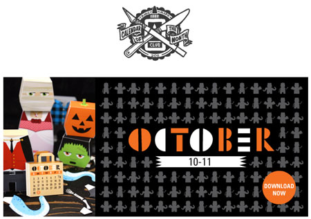 Monster Mash Papercraft Calendar