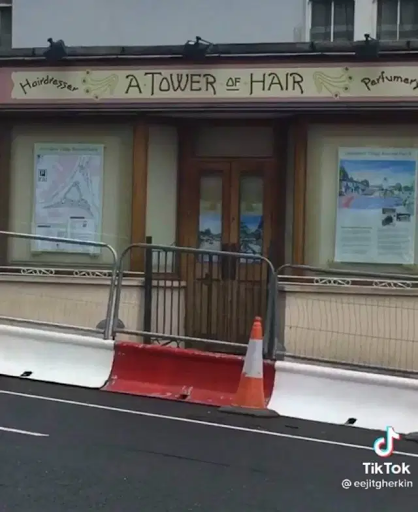 Disenchanted set storefront for A Tower of Hair