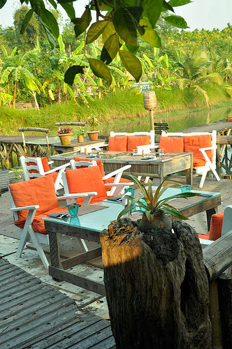 Sitting arrangements at the resort