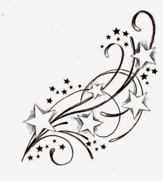 Shooting Star Tattoos on Pinterest  Star Tattoo Designs Nautical