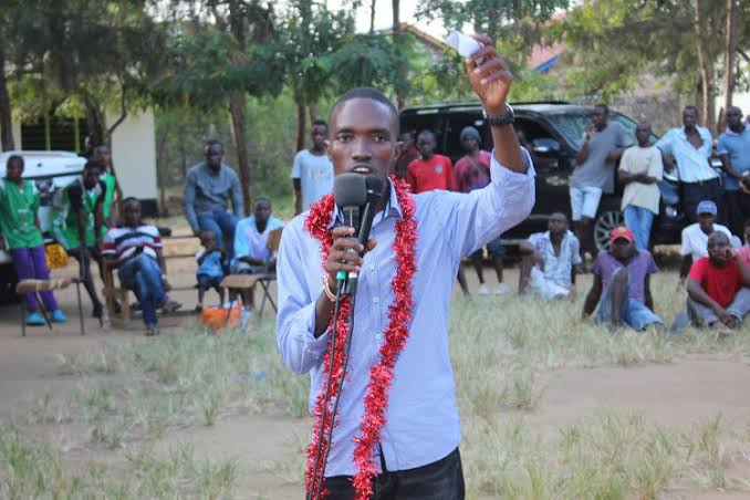 MCA Sammy Ndago in a past function over rogue youth invasion. PHOTO | NMG