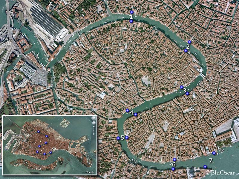 Mappa Gondole traghetto