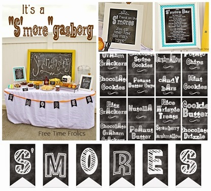 smore party collage