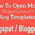 How To Open Mobile Blog Template