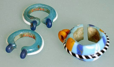 Amarna Glass Earrings from The Met
