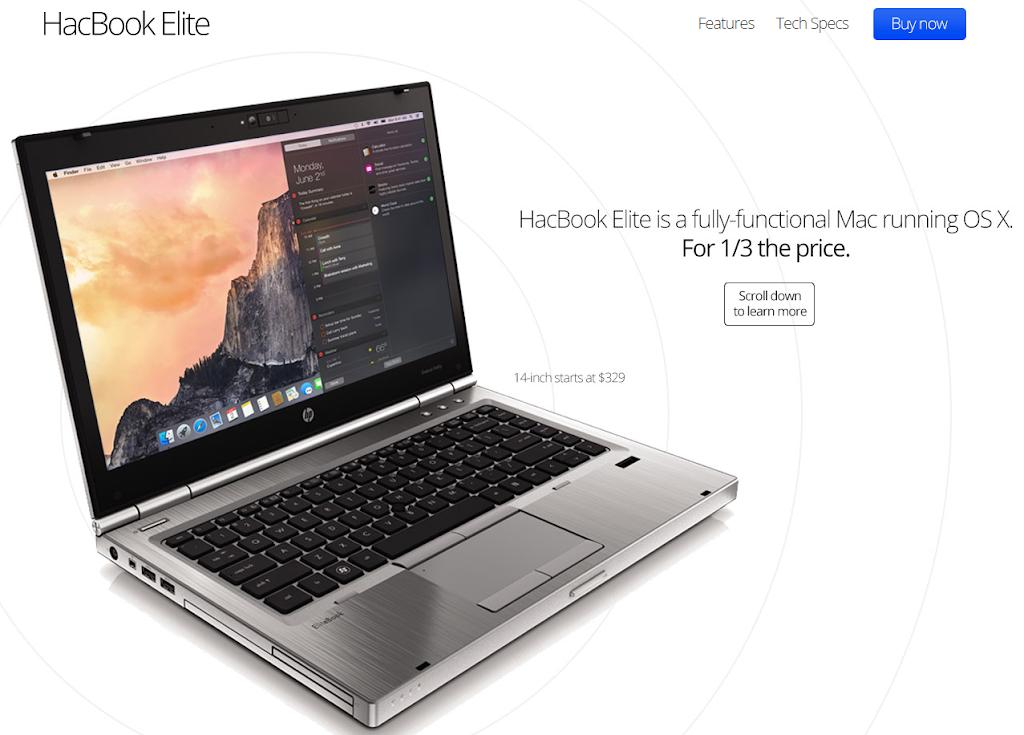 HacBookなるMacBook互換機が登場...
