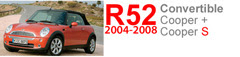 R52/R52 S: 2004-2008 MINI Cooper Convertible (base and S models)
