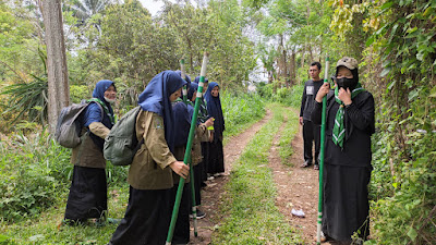 Santri Ponpes Kauman Muhammadiyah Laksanakan Hiking Terintegrasi