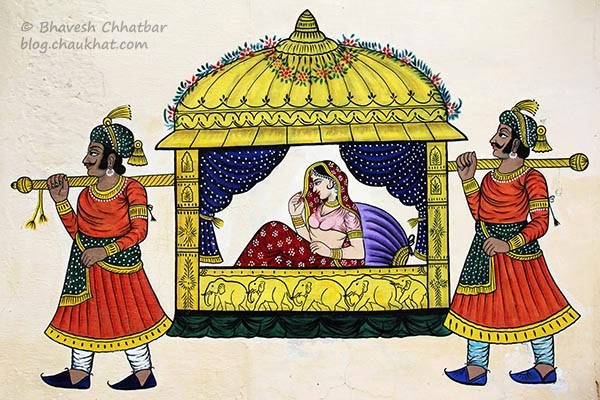 Wall painting of doli
