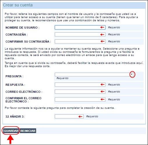 Abrir mi cuenta en Registro de Viajeros - 650