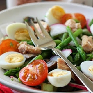 Tuna And Quail Egg Salad.