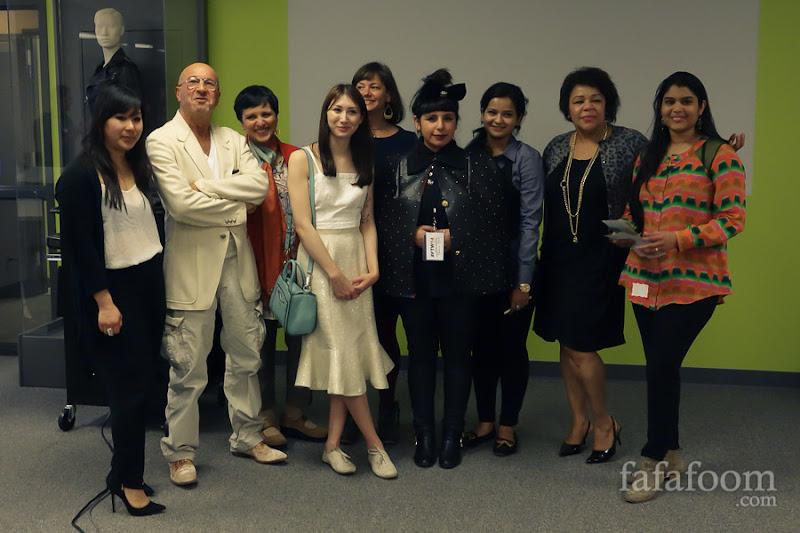 From left to right: Katie Campbell, Michael Rosen, Geetika Gupta,Alyssa Casares, Liz Rossof,Maricella Olague, Anubha Srivastav, Gwendolyn Wright, and Leela Dhanya Gutta.