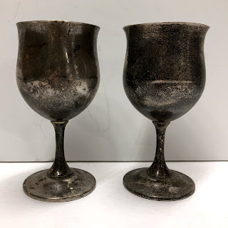 Sterling Silver Reed & Barton Goblet Pair