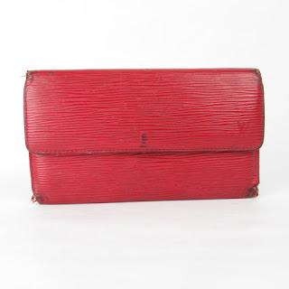 Louis Vuitton Red Epi Leather Wallet