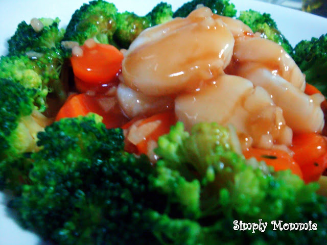 broccoli with scallops recipe