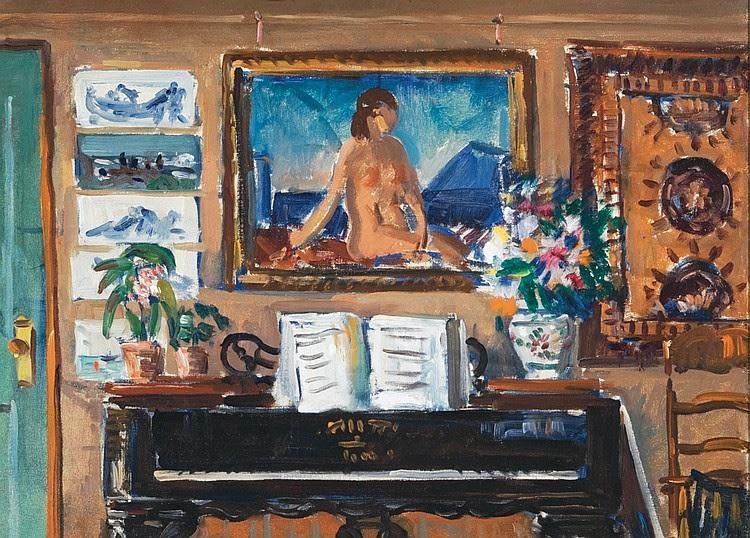Gifford Beal - Interior, Piano