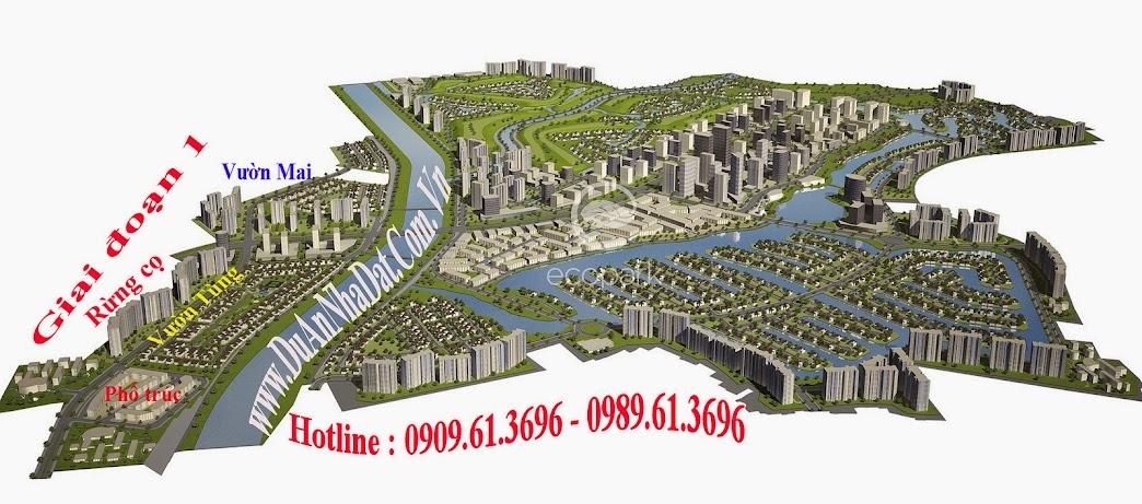 Phối cảnh tổng thể khu đô thị sinh thái Ecopark