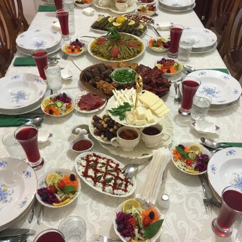 iftar masaları, iftar menüleri, sahra