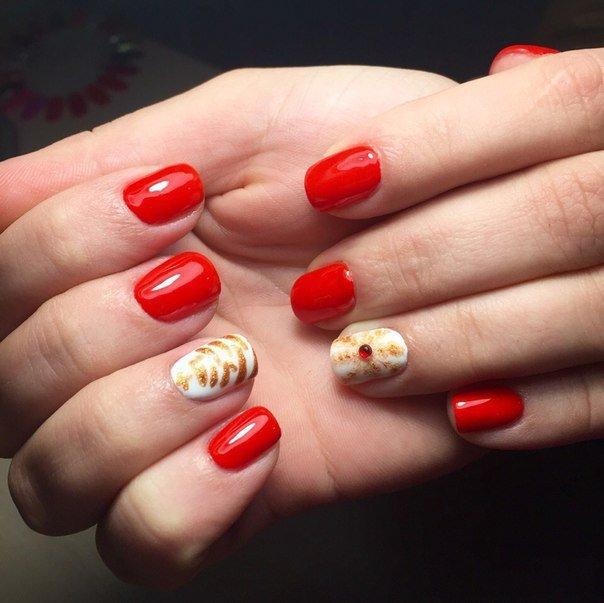 Latest Red Nail Designs-Cute Nail Art Ideas 8