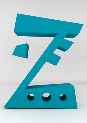 lettre 3D homme joker turquoise - Z - images libres de droit