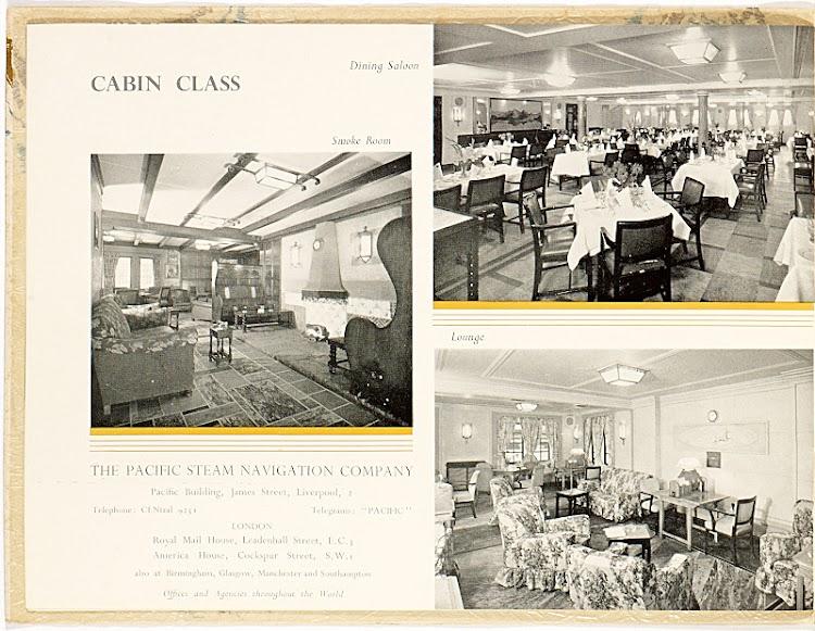 8- Panfleto de propaganda que muestra las instalaciones para la clase Cabin. Colección Arturo Paniagua.jpg