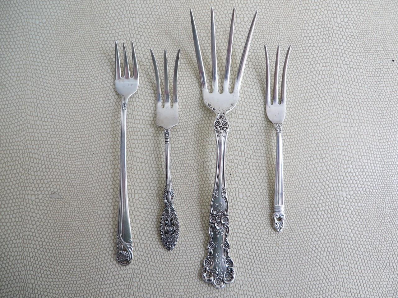 Sterling Silver Serving Fork Set