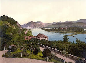 Photo: Rolandbogen, Nonnenwerth und das Siebengebirge   um 1900 Public Domain