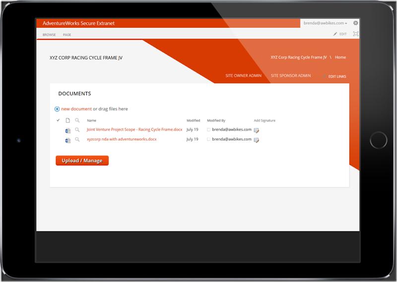 responsive extranet page - ipad