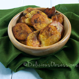 Sweet Spice Tostones (Fried Plantains)