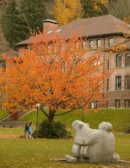The original and classic Old Main on WWU's campus is a glorious example of early Bellingham architecture. / Credit: Western Washington University