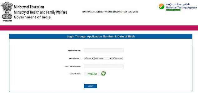 NEET Admit Card 2021