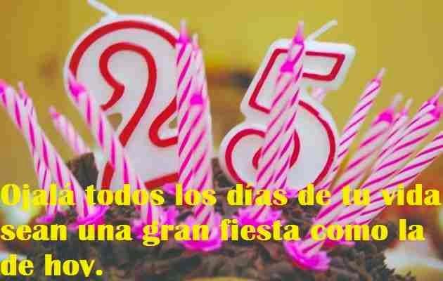 Felicitaciones por tus 25 años