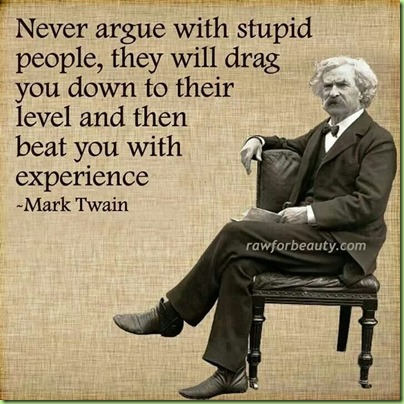 mark twain stupid people