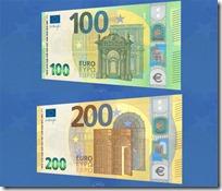 Nuove banconote da 100 e 200 euro