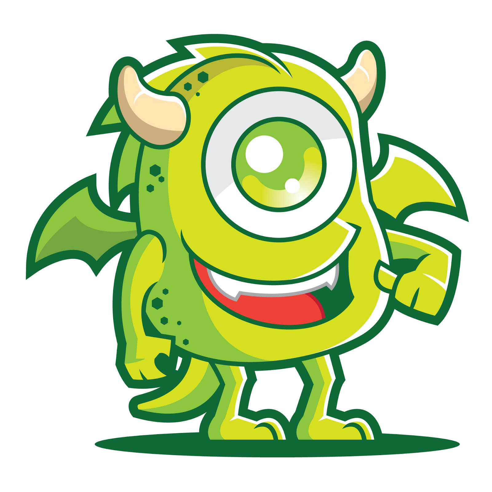 Monster Mascot Logo Free Download Vector CDR, AI, EPS and PNG Formats