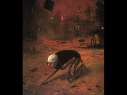 Zdzislaw Beksinski Dead Fire, Death