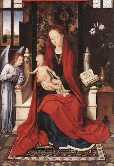 Hans Memling - Virgin Enthroned with Child and Angel