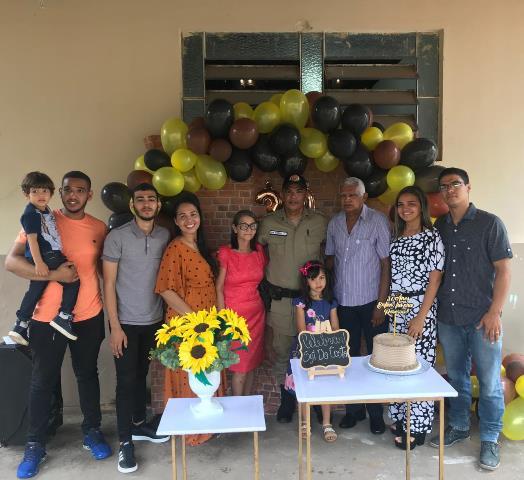 BURITI: Sargento Da Costa completa 30 anos de serviço na PMTO e recebe homenagens da família, amigos e colegas de serviço
